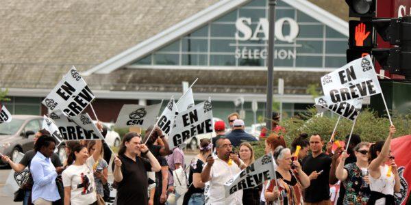 Grève-surprise partout au Québec pour les employé-es de la SAQ
