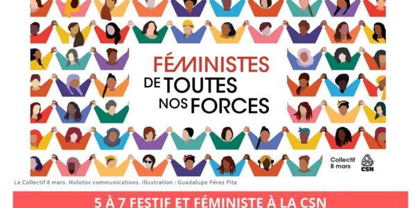 5 à 7 festif et féministe à la CSN